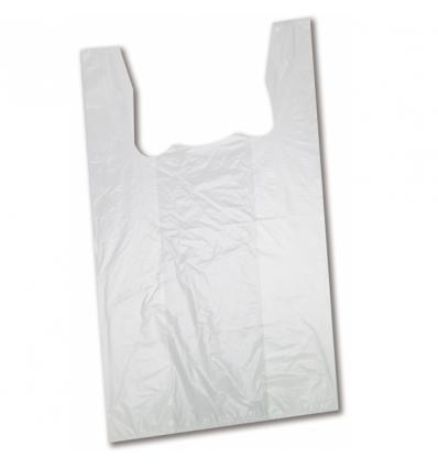 bf67f812a Bolsas De Plástico Blancas Tipo Camiseta | Las Bolsas Más Baratas