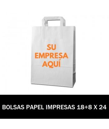 BOLSAS DE PAPEL IMPRESAS 18+8 X 24