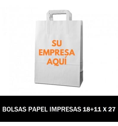 BOLSAS DE PAPEL IMPRESAS 18+11 X 27