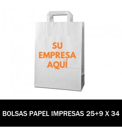BOLSAS DE PAPEL IMPRESAS 25+9 X 34
